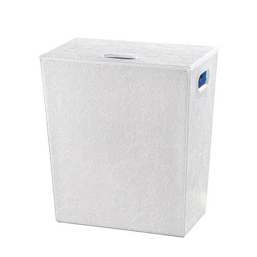 Perle 2503 White Waste Basket
