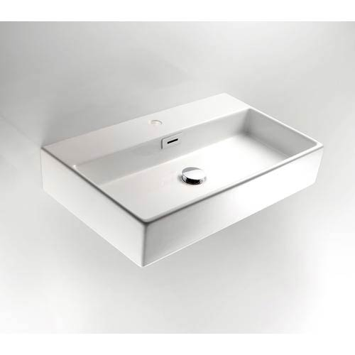 Ceramic White Small Wall Mounted Bath