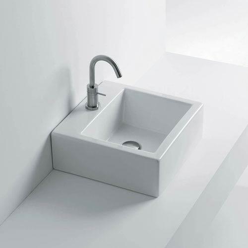 WS Bath Collections Vessel Bathroom Sink in Ceramic White