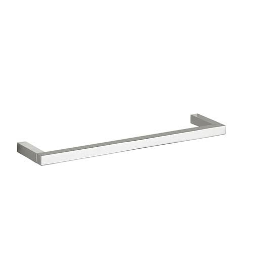 WS Bath Collections Quadra Simple Towel Bar in Polished Chrome