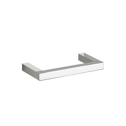 WS Bath Collections Quadra Simple Toilet Paper Holder in Polished Chrome
