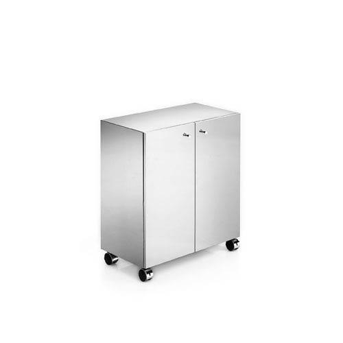 Linea Polished Stainless Steel Bathroom Vanity