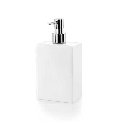 Complements Saon Porcelain White Square Soap Dispenser