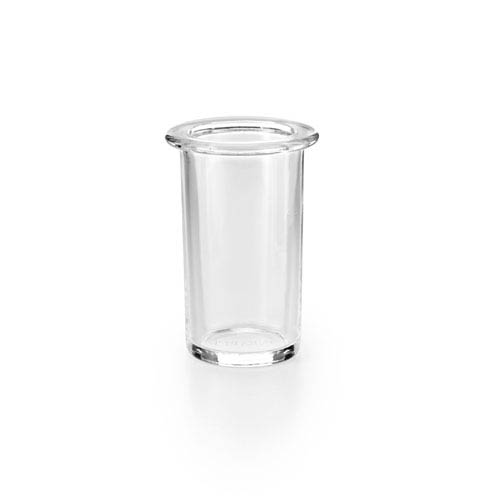 WS Bath Collections Saon Polished Chrome and Clear Glass Bathroom Tumbler
