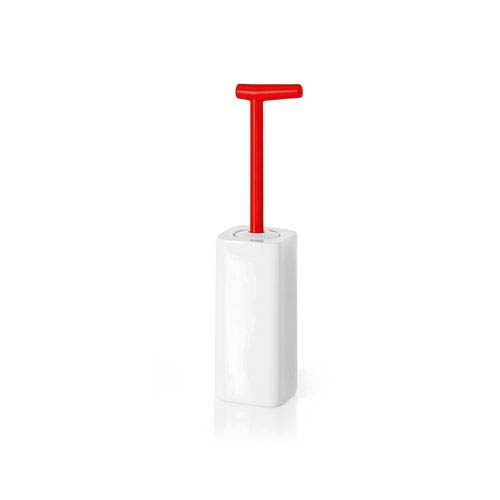 Complements Red Bathroom Toilet Brush Holder