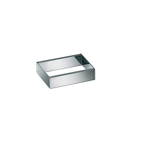 WS Bath Collections Skuara Polished Chrome 3-Inch Towel Bar