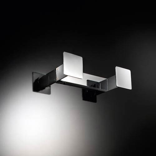 Skuara Polished Chrome Square Double Hook
