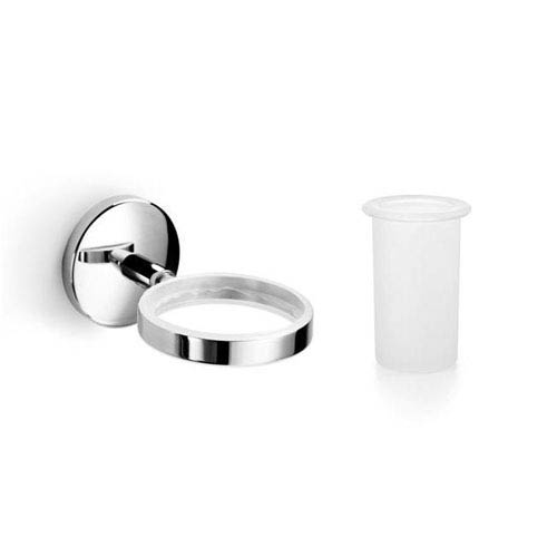 Spritz Polished Chrome and Frosted Glass Bathroom Accessories