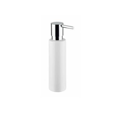WS Bath Collections Shot Soap Dispenser in White Ceramic