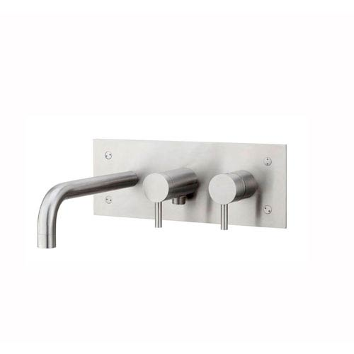 Steel Bath/Shower Mixer in Stainless Steel
