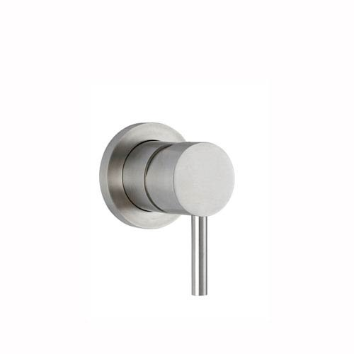 WS Bath Collections Steel Concealed Shower Mixer in Stainless Steel