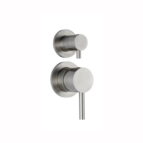 Steel Concealed Shower Mixer with Diverter in Stainless Steel
