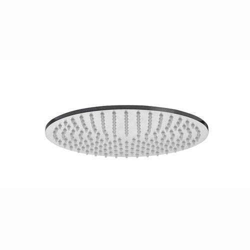 WS Bath Collections Steel Round Shower Head in Stainless Steel