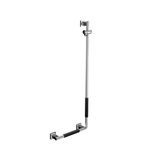 WS Bath Collections System Left Shower Holder Bar with Non-Skid Coating
