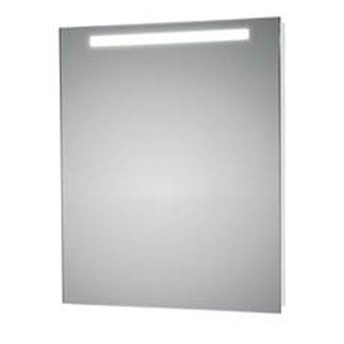 WS Bath Collections LED Lighted Wall Bathroom Mirror with Upper Light