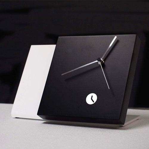 Tact Mixte Black/White Table Clock
