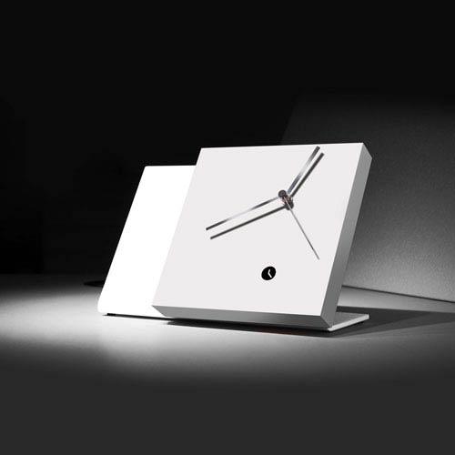 Tact Mixte White/White Table Clock