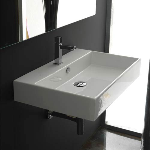 Ws Bath Collections Unlimited 60 White Wall Mount Or Countertop Bathroom Sink
