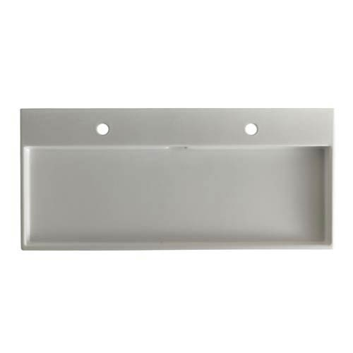 Urban 100 White Wall Mount or Countertop Bathroom Sink with Two Holes