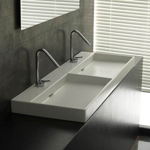 Urban 120 White Wall Mount or Countertop Bathroom Sink