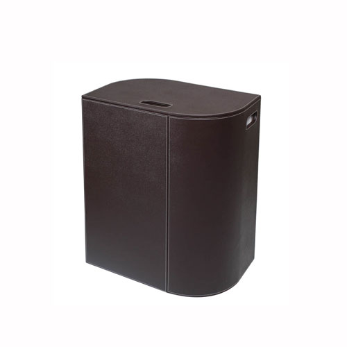 WS Bath Collections Vela Laundry Basket in Dark Brown