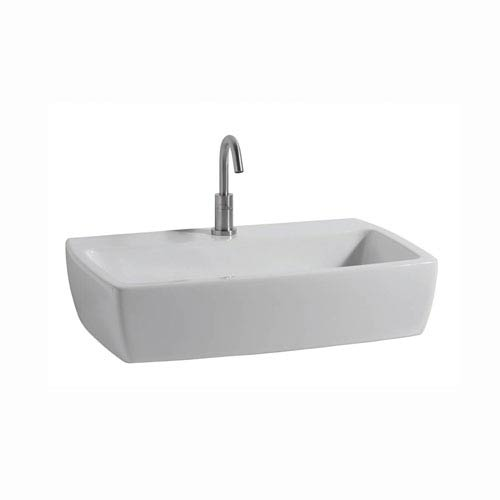 WS Bath Collections Xtre Wall Mounted / Vessel Bathroom Sink in Ceramic White