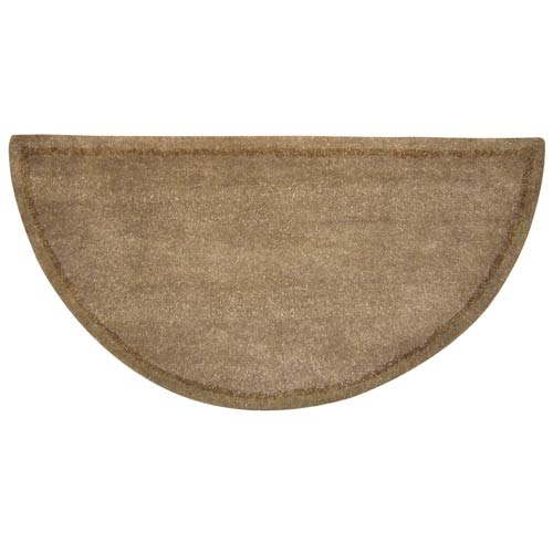 Beige Wool Hearth Rug