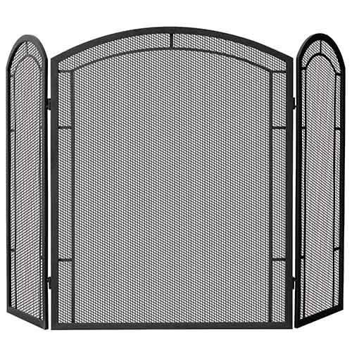 Blue Rhino Black Wrought Iron Tri-Fold Screen