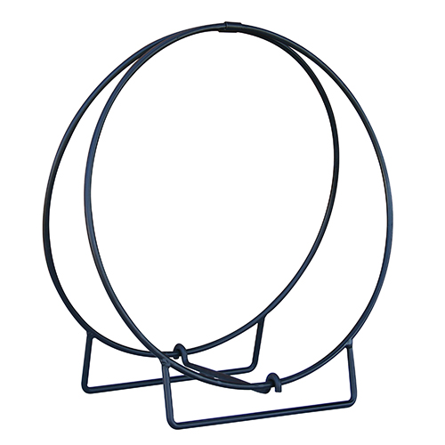 Black 24-Inch Black Log Hoop with 0.5-Inch Solid Stock