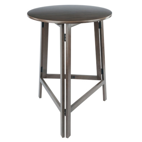 Torrence Oyster Gray High Round Table