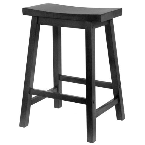 Black 24 Inch Saddle Seat Stool