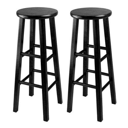 Bar Stool, 29 Inch Square Leg Stools, Set of Two