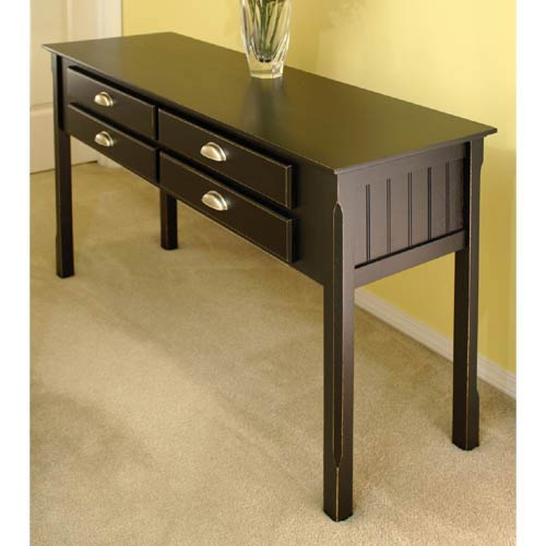 Sensational Winsome Wood Black Wooden Console Table Caraccident5 Cool Chair Designs And Ideas Caraccident5Info