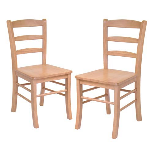Ladder Back Chairs, 2-Piece set