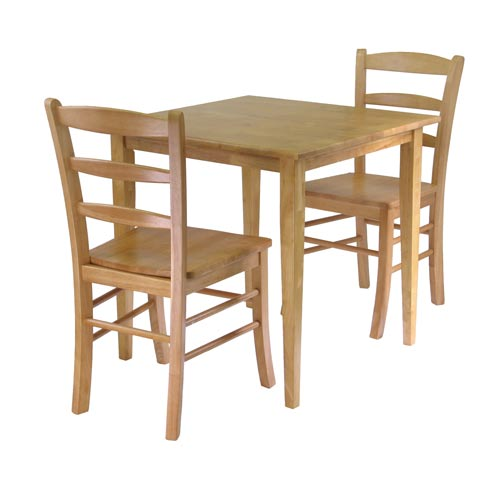 Winsome Wood Groveland Three-Piece Light Oak Square Dining Set