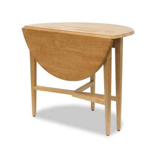 42-Inch Round Drop Leaf Table