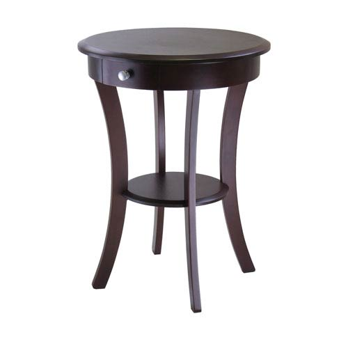 Winsome Wood Sasha Cappuccino Round Accent Table