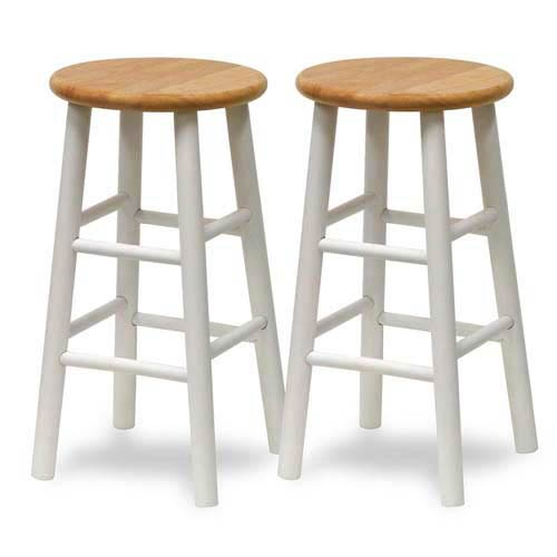 Winsome Wood 24 Inch Barstool Set Of Two 53784 Bellacor