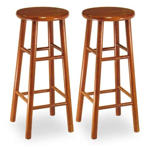 Cherry 29-Inch Bar Stools, Set of Two