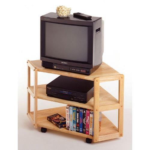 Natural Corner TV Stand