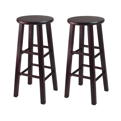 Winsome Wood Pacey 2-Piece 29-Inch Bar Stool Set Espresso