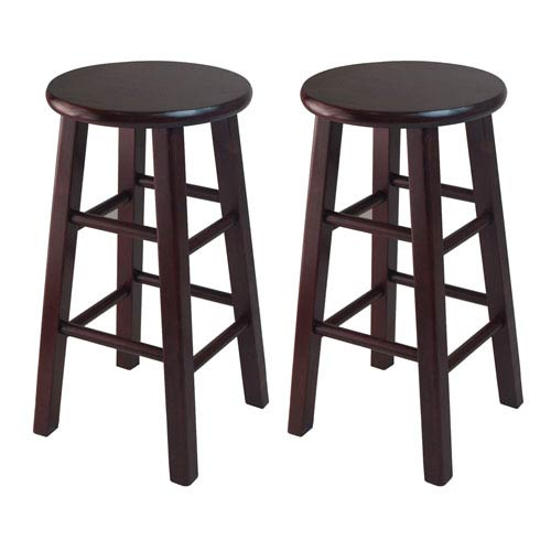 Winsome Wood Pacey 2 Piece 24 Inch Bar Stool Set Espresso 92264
