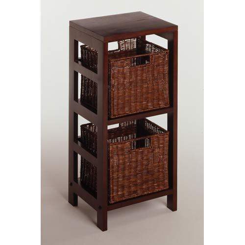 3-Piece Storage Shelf with 2 Small Baskets