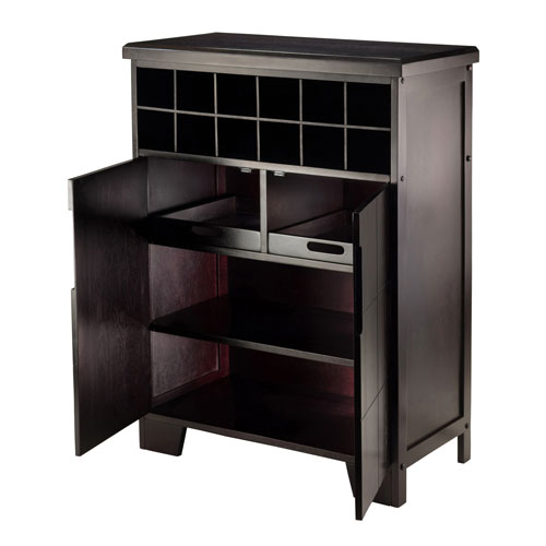 Winsome Wood Bonnay Wine Cabinet 92632 Bellacor