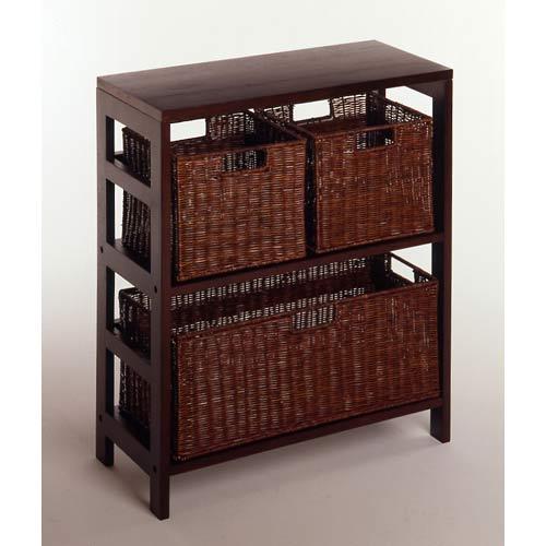 4-Piece Storage Shelf with Baskets
