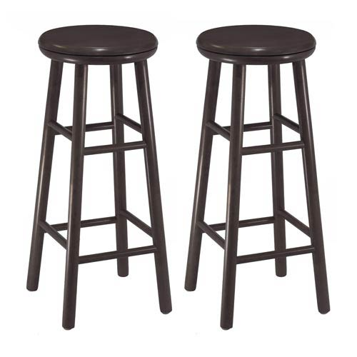 Winsome Wood 30 Inch Swivel Bar Stools Set Of Two 92790 Bellacor