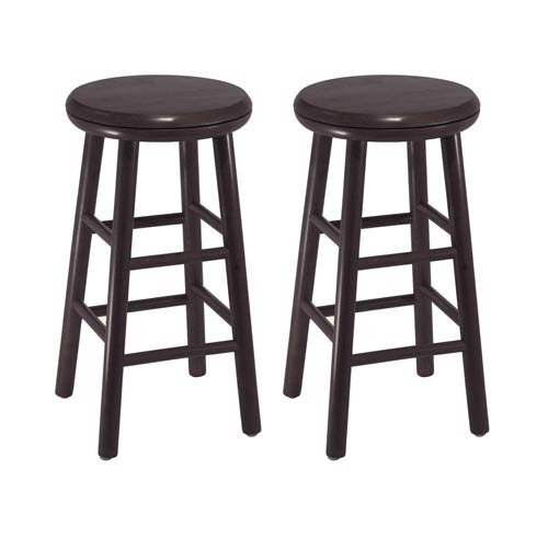 24-Inch Swivel Kitchen Stools, Set of Two