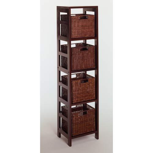 5-Piece Storage Shelf with 4 Small Baskets