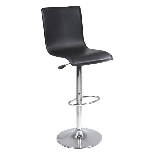 Single Faux Leather Air Lift Stool