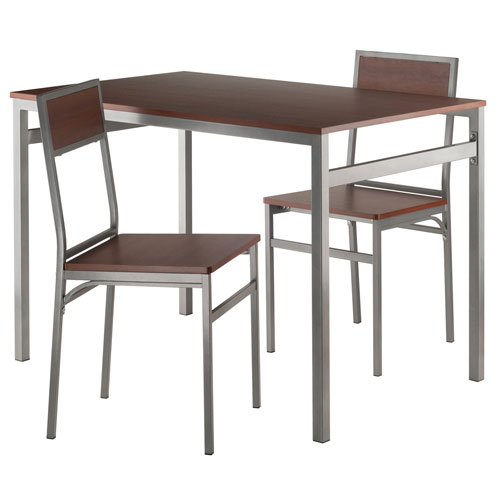 Winsome Wood Milton 3-Piece Set Dining Table with Chairs